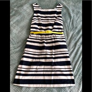 The Limited - Size 4 Dress - Navy/White stripes